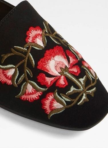 Aldo Çiçekli Terlik Siyah
